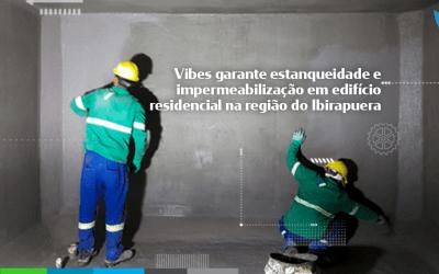 Vibes garante estanqueidade e impermeabilização em edifício residencial na região do Ibirapuera.